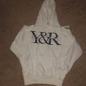 Boys 10/12 White Young and Reckless Hoodie